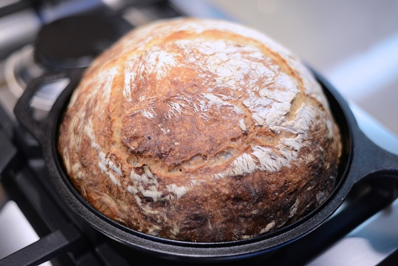 Bread Baked in Lodge Cast Iron Combo Cooker